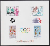 Gabon (1984) Los Angeles Olympics. Imperforate Minisheet Of 4 With Gold Medal Winners Printed.  Scott No C268. - Summer 1984: Los Angeles