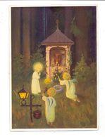 WEIHNACHTEN - Kinder Mit Engelsflügeln Entzünden Kerzen Vor Einem Waldaltar, Künstler Schönermark, 1937 - Noël