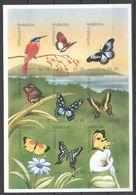 N600 !!! IMPERFORATE ANTIGUA & BARBUDA FLORA & FAUNA BUTTERFLIES 1KB MNH - Schmetterlinge