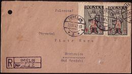 Poland 1947. Mi 454, Registered Letter From Imielin To Mysłowice. R - Provisorium Provisional, W228 - Storia Postale