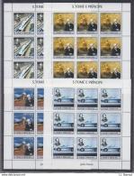 N81. 10x S Tome E Principe - MNH - Famous People - Jules Verne - 2004 - Full Sheet - Célébrités