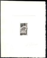 Mauritania (1963) Striped Hyena. Die Proof In Black Signed By The Engraver DURRENS.  Scott No 134, Yvert No 165. - Mauretanien (1960-...)