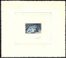 Monaco (1955) Verne. Puma. Boats On Orinoco River. Die Proof In Dark Blue Signed By The Engraver GANDON. Scott No 345, Y - Monaco
