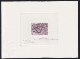Monaco (1983) Apple Tree In Winte. Die Proof In Purple Signed By The Engraver BETEMPS And The Artist LAMBERT.  Scott No - Monaco