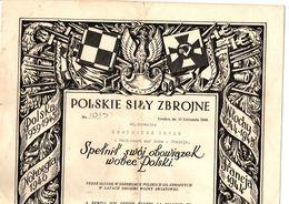 1939  -  1945   POLSKIE   SILY   ZBROJNE - Documents