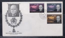 The Gambia 1966 Sir Winston Churchill FDC - Sir Winston Churchill