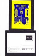 PAP Entier De L´ Exposition Archi-Timbrée, L´Adresse, Musée De La Poste - Postal Stamped Stationery