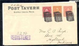 U.S.A. (1930) Boîtes De Céréale.[  Oblitération Fancy De Battle Creek, Michigan: Maison De Kellogg, Co. Trois Marques En - Postal History