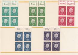 Germania Federale (1959) - Theodor Heuss, Mi. 302/306 ** - [7] Repubblica Federale
