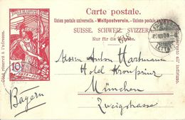 PK 32  UPU  Fribourg - München          1900 - Postwaardestukken