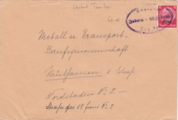 LETTRE. ALSACE-LORRAINE. . AMBULANT BAHNPOST. ZABERN-MOLSHEIM - Elsass-Lothringen