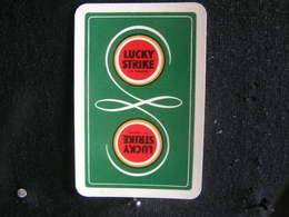 Playing Cards / Carte A Jouer / 1 Dos De Cartes, Inscription  Publicitaire / Cigarettes Lucky Strike - Cigarette Holders