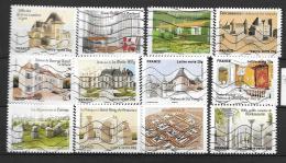 2013 - 37 - 865 à 876 Oblitéré - Patrimoines De France - France