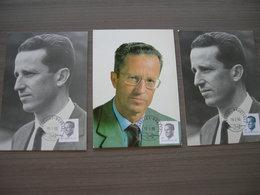 BELG.1990 2352 ( 2 Verschilldende) + 2356 Pkaarten Met Eerstedag Stempel - 1981-90