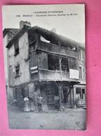 Le Vieux MASSIAC - Anciennes Maisons , Quartier Du Montel - Animé - Voyagé En 1913 - France