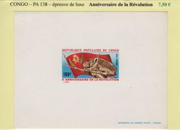 Congo - Epreuve De Luxe - PA138 - Anniversaire De La Revolution - République Du Congo (1960-64)