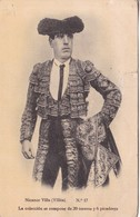 NICANOR VILLA(VILLITA) NRO 17. TORERO. TAUROMAQUIA. EL. SAN SEBASTIAN SERRA. CIRCA 1900's- BLEUP - Corrida