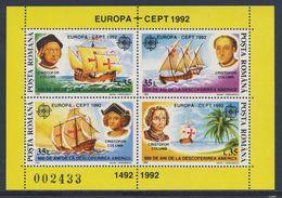 Romania Romana Rumänien 1992 Mi B271 YT 214 ** 500th Ann. Discovery America By Columbus / Entdeckung Amerika - Christoffel Columbus