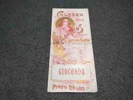 RARE PORTUGAL ART NOUVEAU BROCHURE GIOCONDA - COLYSEU DOS RECREIOS - XIX CENTURY - LISBOA - Manifesti & Poster