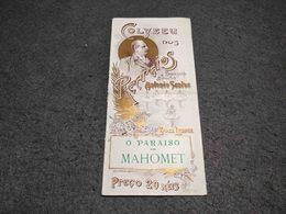 RARE PORTUGAL ART NOUVEAU BROCHURE O PARAISO DE MAHOMET - COLYSEU DOS RECREIOS - XIX CENTURY - LISBOA - OPERA - Posters