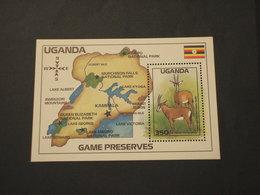 UGANDA - BF 1988 ANTILOPI -  NUOVO(++) - Uganda (1962-...)