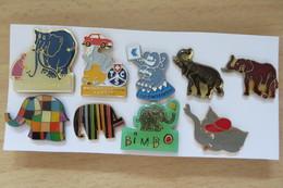 Lot De 9 Pin's,Animaux, Elephant, Elefant - Animals