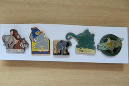 Lot De 5 Pin's,Animaux, Elephant, Elefant - Animals