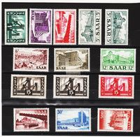 AUA1318 DEUTSCHLAND SAARLAND 1952 MICHL 319/33 ** Postfrisch SIEHE ABBILDUNG - 1947-56 Allierte Besetzung