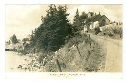 Canada, Nova Scotia, Blandford Church. Real Photo Pc, Unused. - Nova Scotia