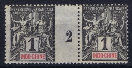 Indo Chine  Yv  Nr 3  Millesime MH/* Flz/ Charniere - Ungebraucht