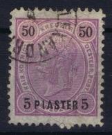 Austria: Levant Mi Nr 25 Obl./Gestempelt/used - Oriente Austriaco