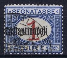 Italia Levant Segnatasse  Constantinopoli Sa Nr 4 Obl./Gestempelt/used - 11. Foreign Offices