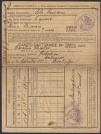 Carte-Quittance A. Pour Assurance Obligatoire Alsace Lorraine Caroline Schuster 1920 (3scans) - Old Paper