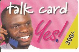 """Télécarte Du KENYA - Talk Card """"Yes"""" 300/. Prépayée Kencell - Kenya"""