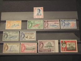 TURKS - 1957/60 PITTORICA 11 VALORI (pesci/uccello....)- NUOVI(++) - Turks E Caicos