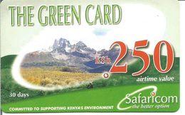 Télécarte Du KENYA - The Green Card 250 Ksh Safaricom - Kenya