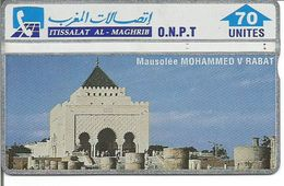 Télécarte Du MAROC - Mausolée MOHAMMED V RABAT ( 70 U ) - Maroc