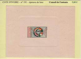 Cote D Ivoire- Epreuve De Luxe - N°191 - Conseil De L Entente - Côte D'Ivoire (1960-...)