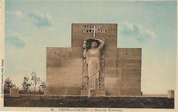 CARTE POSTALE ORIGINALE ANCIENNE : VIENNE LE CHATEAU MEMORIAL MONUMENT AUX MORTS MARNE (51) - Monumenti Ai Caduti