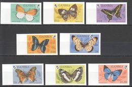 N699 !!! IMPERFORATE GAMBIA FLORA & FAUNA BUTTERFLIES 1SET MNH - Schmetterlinge
