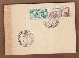 AC- TURKEY POSTAL STATIONARY - BERGAMA 25.05.19578 - 1921-... Republic