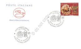 FDC Cavallino Italia Repubblica 2001 - Museo Archeologico Di Taranto - Figurato - Francobolli