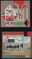 Haiti,  Scott 2015 # C390A-B,  Issued 1973,  2 S/S Of 1,  MNH,  Cat $ 4.25,  72 Olympics - Haiti