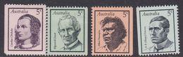 Australia ASC 468-471 1968 Famous Australians, Mint Never Hinged - Mint Stamps