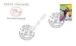 FDC Cavallino Italia Repubblica 2001 - Roma Campione D'Italia 2000-2001 *** - Francobolli