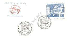 FDC Cavallino Italia Repubblica 2001 - Abbazia Di Santa Maria In Sylvis *** - Francobolli