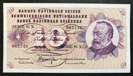 Svizzera 10 Francs Franken Franchi 1974 Fds Unc LOTTO 1968 - Svizzera