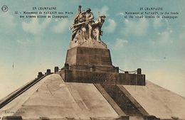 CARTE POSTALE ORIGINALE ANCIENNE : MONUMENT AUX MORTS DE NAVARIN DES ARMEES ALLIEES DE CHAMPAGNE MARNE (51) - Monumenti Ai Caduti