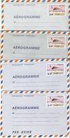 France 1977/80 - Concorde Survolant Paris - 4 Aérogrammes Neufs -  Série Complète - AER 1004/7 - Entiers Postaux