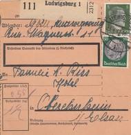 RECEPICÉ DE PAQUET-POSTE DE LUDWIGSBURG POUR OBEREHNHEIM ALSACE - Elsass-Lothringen